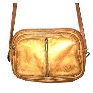 Handbags - Il Giglio Tan Leather Crossbody Bag